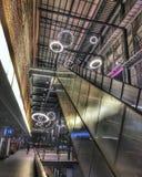Escalator. Beautiful escalator light Royalty Free Stock Photos