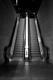 Escalator black & white Stock Images