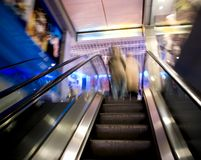 Escalator blur. Royalty Free Stock Photography