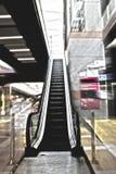 Escalator in a building Royalty Free Stock Photos