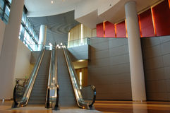 Escalator in business building Royalty Free Stock Image
