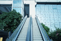 Escalator at business center Stock Images