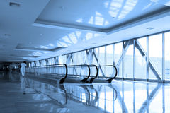 Escalator in  business hall Stock Photography