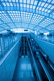 Escalator in capital airport express station royalty free stock photos
