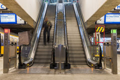 Escalator in Central Station Utrecht Stock Photography