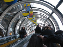 Escalator in Centre Pompido Royalty Free Stock Images