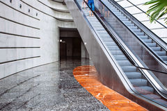 Escalator in the city Royalty Free Stock Photos