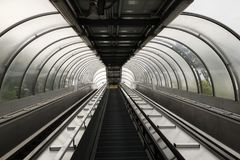 Escalator in the city of chieti. Empty Royalty Free Stock Photography