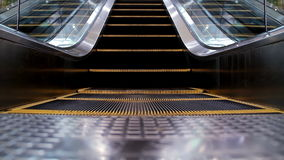 Escalator. Clean escalator motion loop background stock video footage