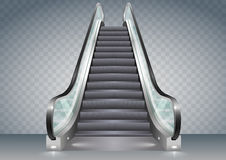Escalator with clear glass Royalty Free Stock Image