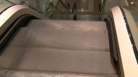 Escalator close up abstract stock video footage
