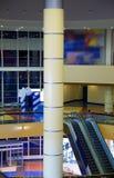 Escalator and columns. As an interior of a modern building Stock Photo