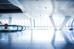 Escalator in corridor Royalty Free Stock Image