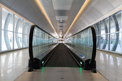 Escalator d'aéroport Photos libres de droits