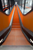 Escalator dans le mouvement Photos libres de droits