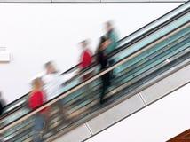 Escalator de centre commercial Photographie stock