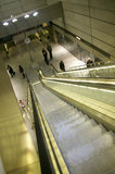 Escalator de souterrain photo stock
