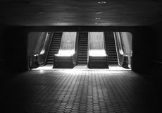 Escalator de souterrain Photo stock