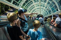 Escalator de studios universels Photo libre de droits