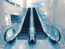 Escalator in department store Stock Images