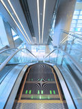 Escalator in department store Royalty Free Stock Photo