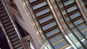 Escalator in a department store. 4K stock video