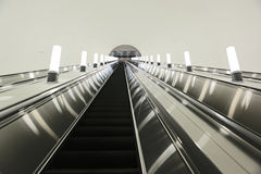 Escalator Down  Metro Royalty Free Stock Photos