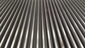 Escalator. Empty moving escalator steps LOOP stock video footage