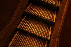 Escalator en bois Photographie stock