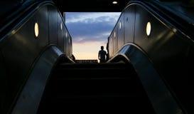 Escalator - evening light Royalty Free Stock Photo