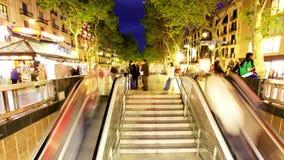 Escalator evening timelapse stock footage