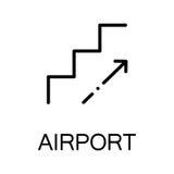 Escalator flat icon or logo for web design. Royalty Free Stock Photography