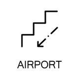 Escalator flat icon or logo for web design. Stock Images