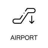 Escalator flat icon or logo for web design. Royalty Free Stock Images