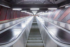 Escalator in futuristic building Royalty Free Stock Photography