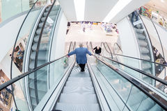 Escalator in the Galeria Kaufhof shopping center, Frankfurt Main Stock Photo