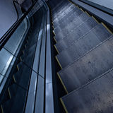 Escalator in grey Stock Photography