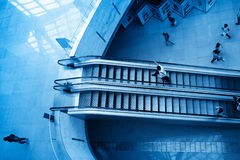 Escalator in hall royalty free stock images
