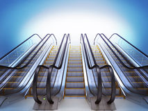 Escalator. Stock Photo