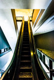 Escalator in the Hirshhorn Museum, Washington, DC. Royalty Free Stock Photo