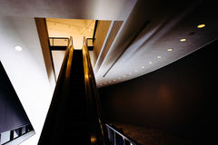 Escalator in the Hirshhorn Museum, Washington, DC. Royalty Free Stock Images