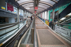 Escalator in Hong Kong Stock Photos