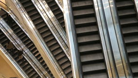 Escalator inside of a mall Royalty Free Stock Photography