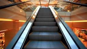 Escalator inside modern shopping mall. HD stock video footage