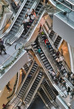 Escalator inside shopping mall Stock Images