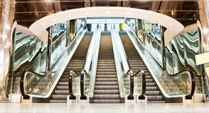 Escalator in the interior Stock Images