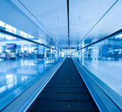 Escalator ,interior of airport Royalty Free Stock Photography
