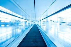 Escalator ,interior of airport. Escalator ,interior of the airport Stock Image