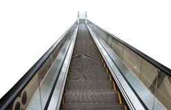 The escalator. Isolated  on white Stock Photos