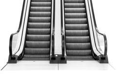 Escalator isolated on white background. royalty free stock image